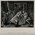 The interior of a salon with fashionable people in hoop skir Wellcome V0049254.jpg