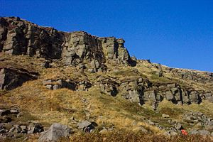 Black Hill (Peak District) - Laddow rocks; unfashionable grit
