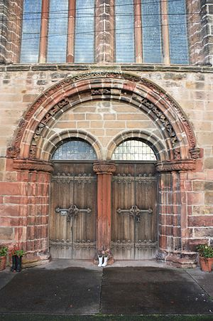 St Mary's Collegiate Church, Haddington - The main entrance, St Marys Collegiate Church, Haddington