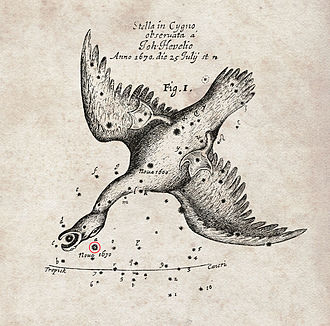 Johannes Hevelius - The nova of 1670 recorded by Hevelius,