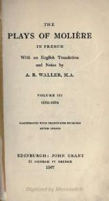 The plays of Molière - Waller - Volume 3.djvu