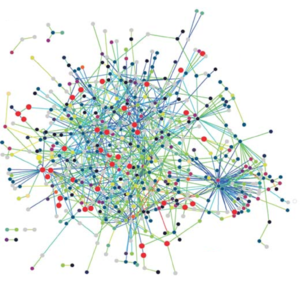 Bioinformatics - Interactions between proteins are frequently visualized and analyzed using networks. This network is made up of protein–protein interactions from Treponema pallidum, the causative agent of syphilis and other diseases.