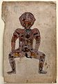 The zodiac man. Watercolour painting by a Persian artist. Wellcome V0046497.jpg