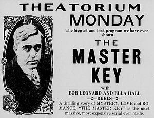The Master Key (1914 serial) - Contemporary newspaper advertisement.