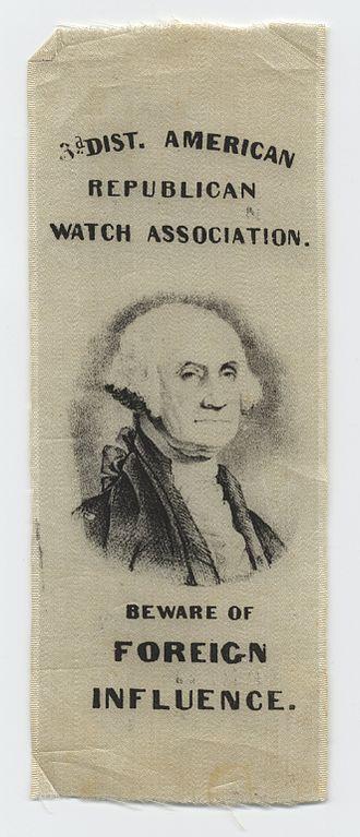 American Republican Party (1843) - Third District American Republican Watch Association Ribbon