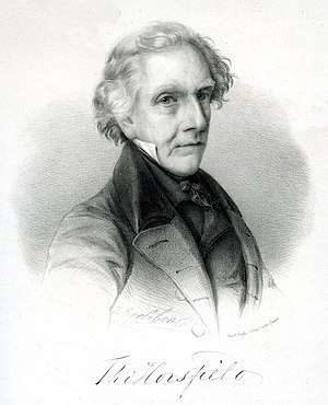 Thomas Horsfield - Portrait by J. Erxleben