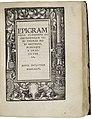 Thomas More Utopia November 1518 Epigrammata (The Folger Shakespeare Library).jpg