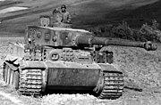 German Tiger I heavy tank of WWII captured in Tunis, 1943