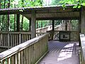 Timber shelter at the start of the Tree Top Way - July 2009 - panoramio.jpg