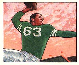 Y. A. Tittle - Illustration of Tittle with the Colts