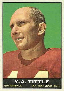 Y. A. Tittle American football quarterback