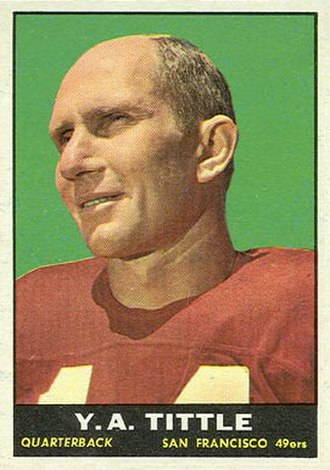 Y. A. Tittle - Image: Tittle 1961 Topps