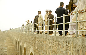 Farah Province - The Togj bridge in Farah Afghanistan was rebuilt by the Provincial Reconstruction Team in 2010