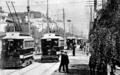 Tokyo electric railway running at Ginza street in Meiji Era in 1912.png