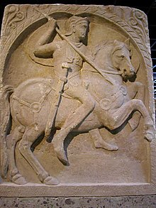 Tomb monument of a cavalryman from 1st century AD (Germanic Roman Museum, Cologne Germany)