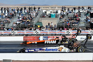 Top Fuel - Two Top Fuel dragsters side by side