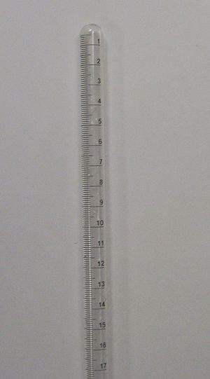 Eudiometer - Closed end of a eudiometer