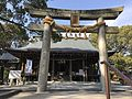 Torii and Haiden of Chiriku Hachiman Shrine.jpg