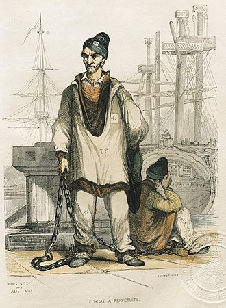 Bagne of Toulon - A Bagnard, or prisoner in the Bagne of Toulon, early 19th century. (Source: Museum of Fort Balaguier)