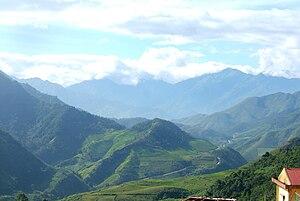 Yên Bái Province - Image: Trạm Tấu, Yên Bái road