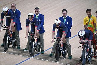 Cycling at the 2016 Summer Olympics – Men's team pursuit - Image: Track cycling at the 2016 Summer Olympics 5