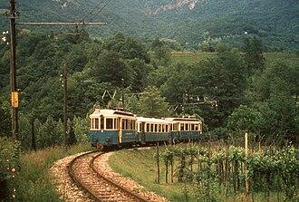 Cadro - A train of the Lugano-Cadro-Dino line