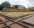 Tram rail crossover and TW6000 at Gubacsi út-Határ út tram stop, 2018 Ferencváros.jpg
