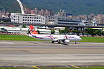 TransAsia Airways Airbus A321-231 B-22612 Taking off from Taipei Songshan Airport 20150908b.jpg