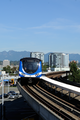 TransLink SkyTrain of Canada Line arrives at Bridgeport station in Richmond, British Columbia, Canada.png