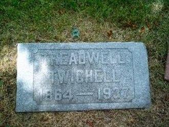 Treadwell Twichell - Image: Treadwell Twichell Grave