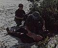 Treating wounded VC, Chu Lai Base Area, 3 November 1968.jpg