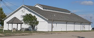 Trego County, Kansas - Image: Trego County fairgrounds exhibit bldg from SW 1