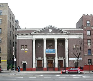 Tremont, Bronx - Looking east across Grand Concourse at former Tremont Temple, now First Union Baptist Church