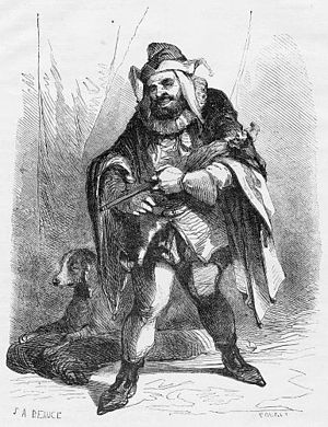 "Le roi s'amuse - ""Triboulet""; illustration for Le Roi s'amuse by J. A. Beaucé and Georges Rouget"