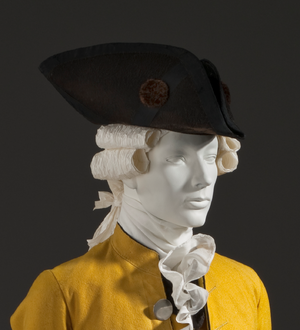 Tricorne - Tricorne of beaver fur, c. 1780, Europe or America. Los Angeles County Museum of Art, M.67.8.204.
