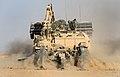 Trojan AVRE Tank Cuts Through the Afghanistan Desert MOD 45152046.jpg