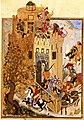 Troops of Timur attacking the city of Khiva, Urganj (left).jpg