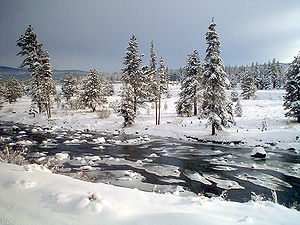 Truckee, California - The Truckee River, just east of Truckee
