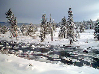 Truckee River - The Truckee River just east of Truckee, California