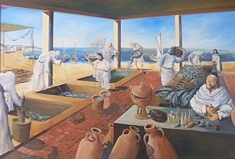 Salted fish - Reconstruction of the Roman fish-salting plant at Neapolis