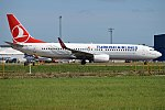 Turkish Airlines, TC-JVZ, Boeing 737-8F2 (37041503516).jpg