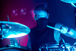 Josh Dun - Dun performing with Twenty One Pilots in Munich, Germany in 2016