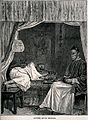 Two Chinese opium smokers, one reclines on a bed and the oth Wellcome V0019176.jpg