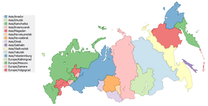 Time in Russia - http://efele.net/maps/tz/russia – data from 2009