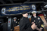U.S. Army Gen. Martin E. Dempsey, center, the chairman of the Joint Chiefs of Staff, visits Sailors on the dock landing ship USS Fort McHenry (LSD 43) in Dublin Sept 120901-D-VO565-001.jpg