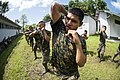 U.S. Marines assigned to a landing attack subsequent operations team conduct a combat conditioning exchange with Guatemalan marines as part of U.S. Marine Corps Martial Arts Program training during Southern 140819-N-XQ474-035.jpg