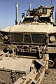 U.S. Marines with Combat Logistics Regiment 2 travel in a mine-resistant, ambush-protected vehicle during a combat logistics patrol to Forward Operating Base Payne March 23, 2013, in Helmand province 130323-M-KS710-025.jpg