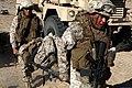 U.S. Marines with Transportation Support Company, Combat Logistics Regiment 2, 2nd Marine Logistics Group, undergo realistic training in an urban environment during Enhanced Mojave Viper (EMV), on Marine Corps 120917-M-KS710-050.jpg