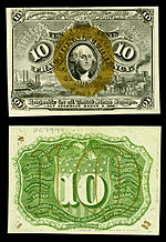 Ten-cent second-issue fractional note