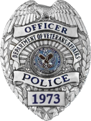 United States Department of Veterans Affairs Police - VA Police Badge in use from 1989 to 2016
